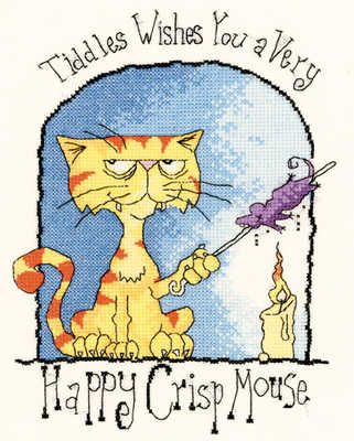 Happy Crisp Mouse - Peter Underhill Tiddles Cross Stitch