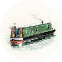 Modern Narrow Boat - Heritage Crafts Cross Stitch