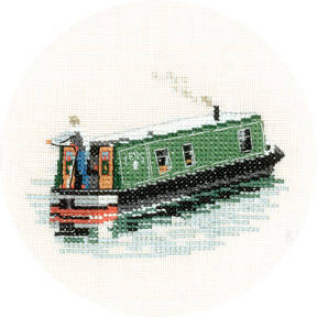Modern Narrow Boat - Heritage Crafts Cross Stitch