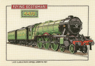 Flying Scotsman - Heritage Crafts Train Cross Stitch