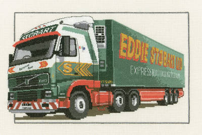 Eddie Stobart Truck Cross Stitch - Heritage Crafts