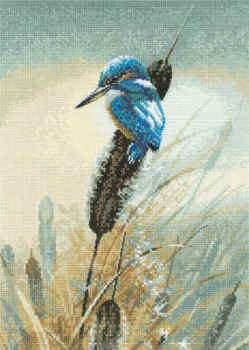 Warwick Higgs Cross Stitch - Little Kingfisher