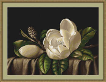 Magnolias  - Floral Cross Stitch Kit by Luca-S