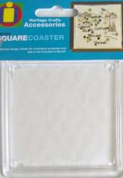 Square Coaster to display Cross Stitch