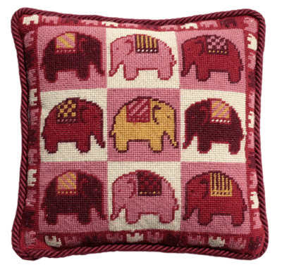 tapestry patchwork elephant