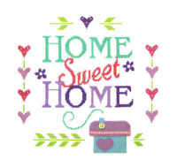 Home Sampler - Felt Applique & Cross Stitch