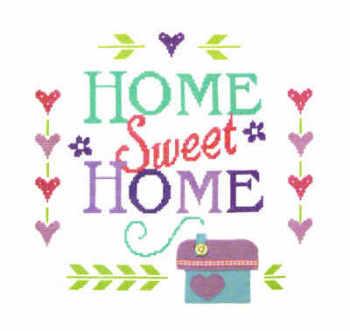 Home Sampler - Felt Applique & Cross Stitch