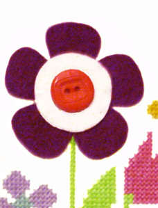 Felt Applique Flower