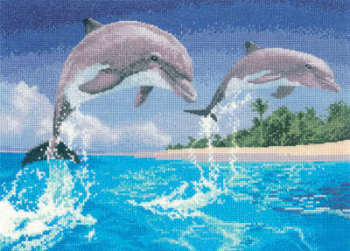 Dolphins - John Clayton Cross Stitch