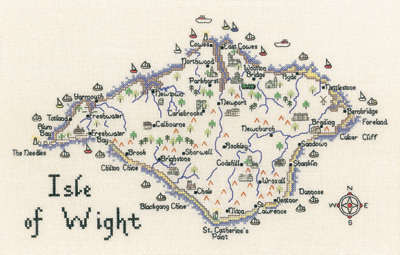 Isle of Wight Cross Stitch kit