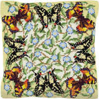 Butterflies - Cross Stitch (printed canvas)