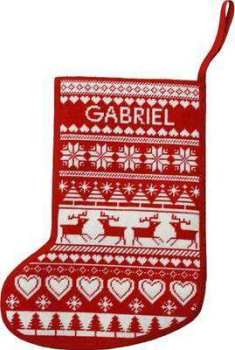 Reindeer Tapestry Xmas Stocking