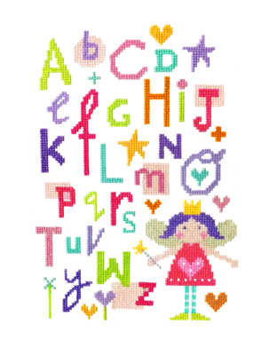 Fairy Alphabet Sampler - Stitching Shed