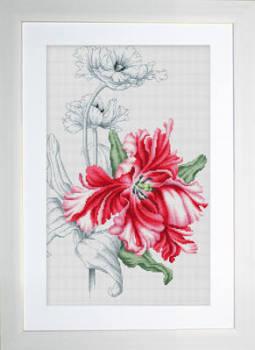 Red Tulips Cross Stitch - Luca-S