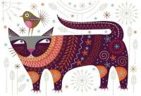 Cat Embroidery Kit - Nancy Nicholson