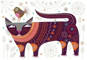Cat Embroidery Kit - Nancy Nicholson