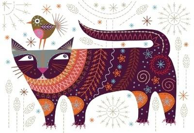 Cat Sew Embroidery Kit - Nancy Nicholson