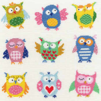 Slightly Dotty Owls - Bothy Threads