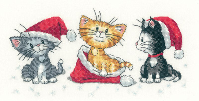 Christmas Kittens Cross Stitch *NEW*