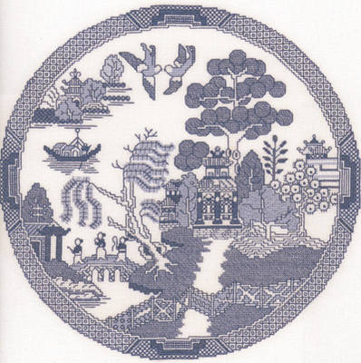 Willow Pattern (Thomas Minton) Cross Stitch