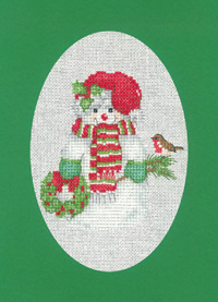 Christmas Snowman Card Kit (Green)