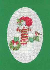 Christmas Snowman Card Kit (Green)