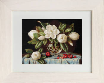Magnolia Vase - Petit Point Kit - Luca-S
