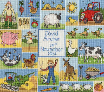 Patchwork Farm Baby Sampler - *NEW*