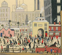 Coming from the Mill Cross Stitch (L.S. Lowry)