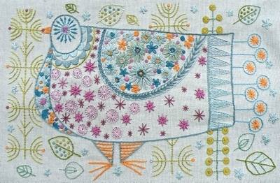 Pigeon Embroidery Kit - Nancy Nicholson