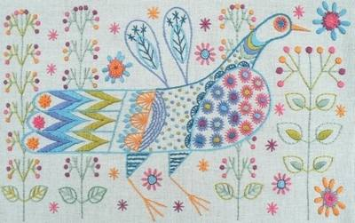 Nancy Nicholson Longtail Bird Embroidery Kit