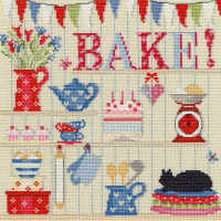 Bake - Cross Stitch Sampler
