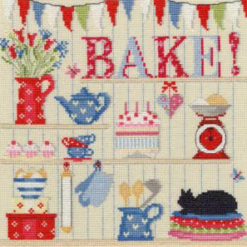 Bake - Cross Stitch Sampler