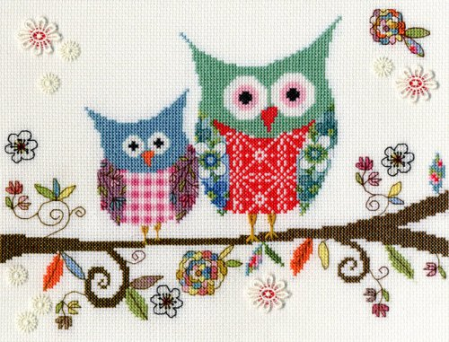 Love Woo Owl Cross Stitch - Bothy Threads *NEW*