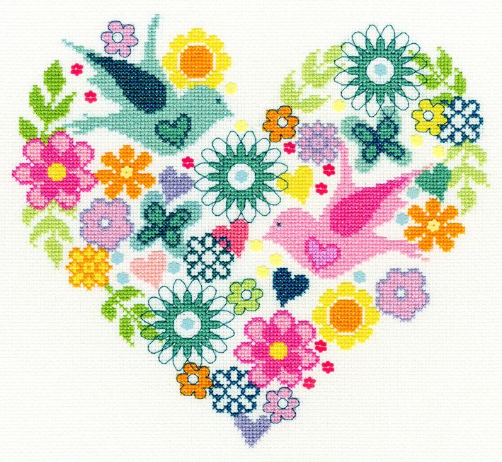 Heart Bouquet - Bothy Threads *NEW*