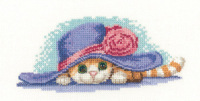 Cat in a Hat Cross Stitch