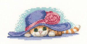 Cat in a Hat Cross Stitch *NEW*