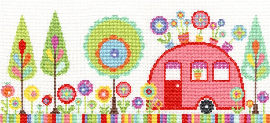 Funky Caravan Cross Stitch