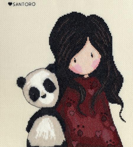 Panda Girl - Gorjuss Cross Stitch