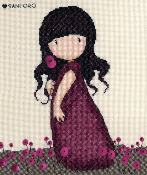 Pink Poppy - Gorjuss Cross Stitch