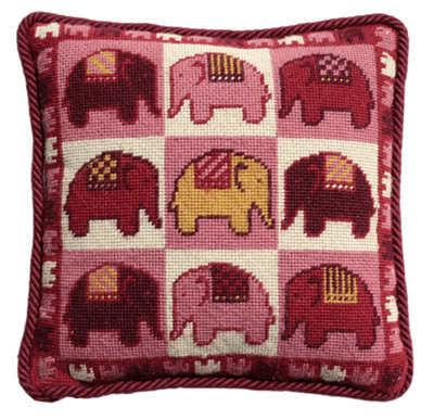 Pink Elephants Tapestry Kit