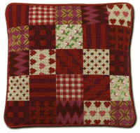 Red Patchwork Tapestry Kit (Plain Canvas)