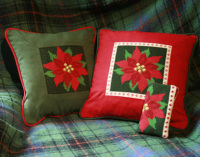 Poinsettia Tapestry Kit (Plain Canvas)