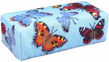Tapestry Doorstop Kit  - Blue Butterfly (Plain Canvas)