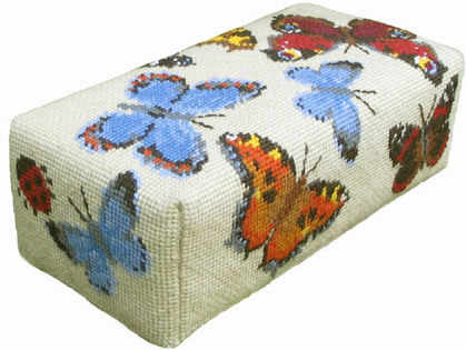 Tapestry Doorstop Kit  - Ecru Butterfly