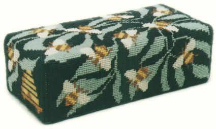 Tapestry Doorstop Kit - Black Bees