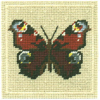 Small Tapestry Kit - Peacock Butterfly