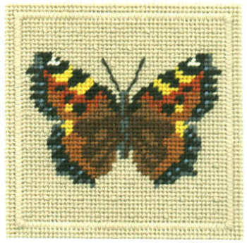 Small Tapestry Kit - Tortoiseshell Butterfly