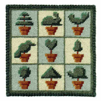 Topiary Trees Small Tapestry Kit