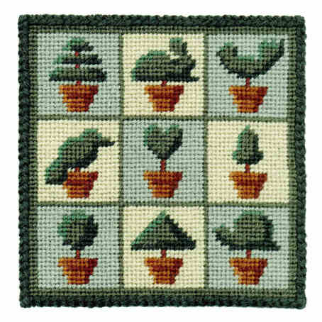 Small Tapestry Kit - Topiary Trees